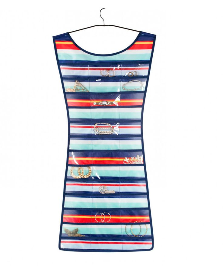 Little Striped Dress - Vestido de rayas de colores para organizar tus joyas. $44.100 COP. Cómpralo aquí--> https://www.dekosas.com/productos/regalos-mujer-umbra-299035-073-5-little-striped-dress-blue-detalle