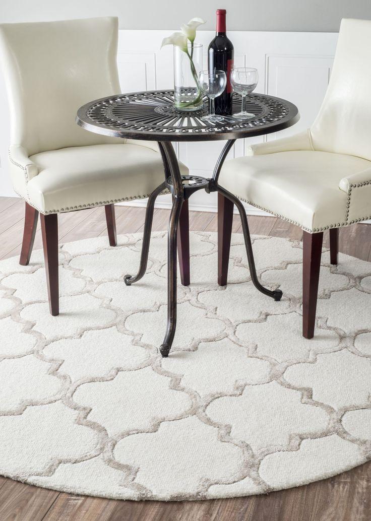 My favourite pattern (trellis/lattice/maroccoan) looks so beautiful on a round rug! Satara Edison rug by Rugs USA