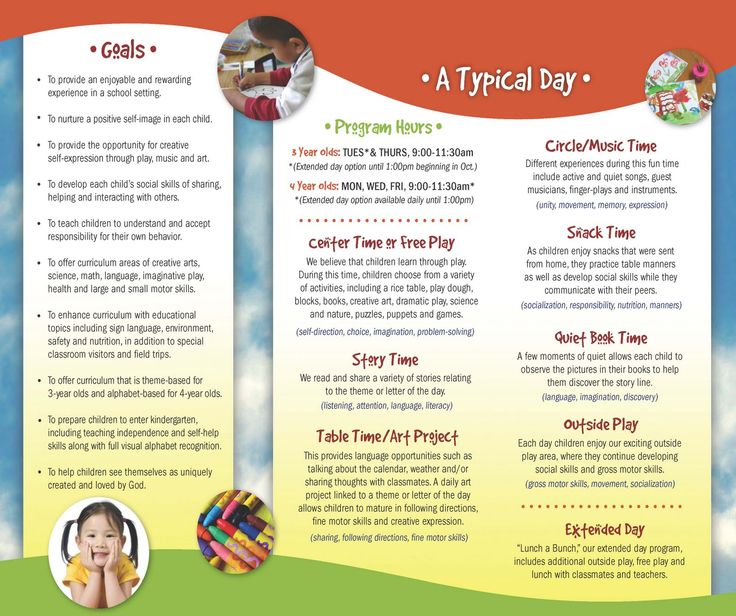 18 best Kids Brochures images on Pinterest Brochures, Flyer - sample preschool brochure