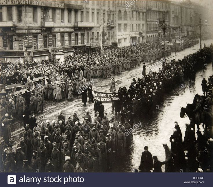 Russian Revolution 1917 / Funeral procession for victims of the February Revolution, Petrograd, Russia, March 1917.