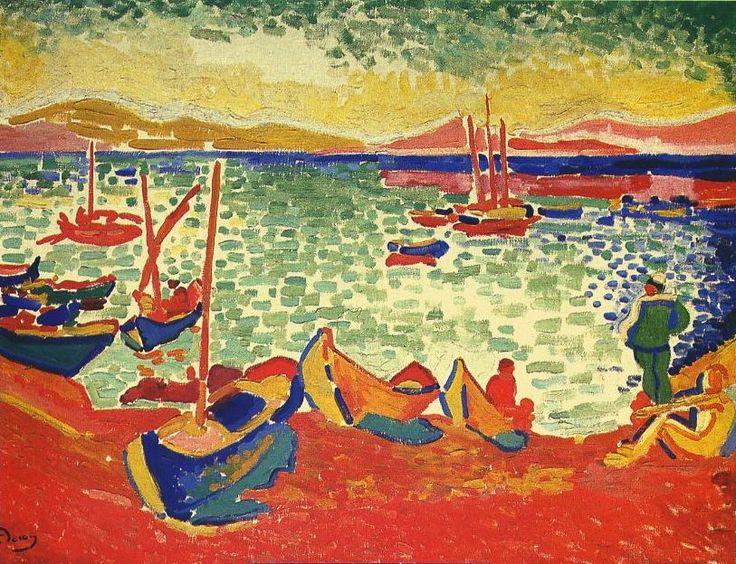 Andre DERAIN, Bateaux dans le port, Collioure | Fauvisme, Art fauvisme et Impressionnisme