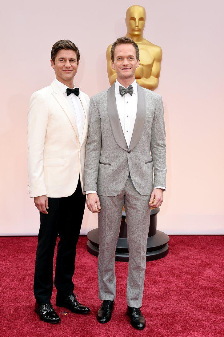 Pin for Later: Cette Année, les Oscars Etaient une Affaire de Couples Neil Patrick Harris et David Burtka