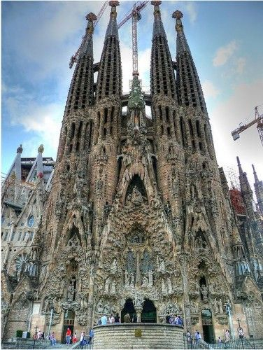 La Sagrada Familia in Barcelona by Antoni Gaudi