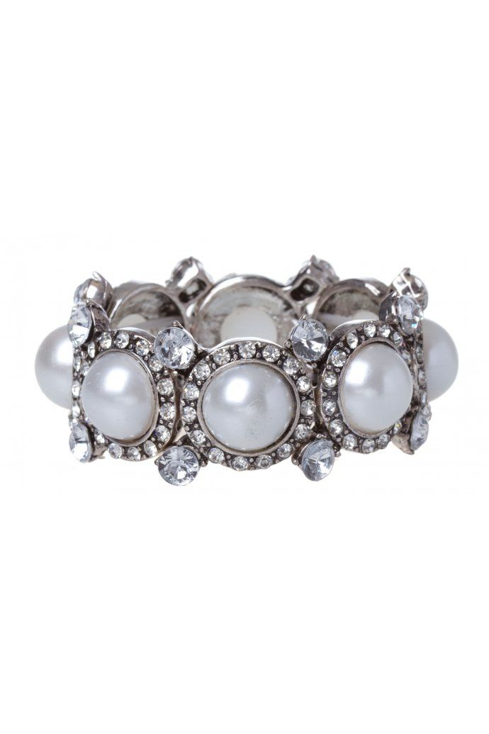 Glam Diamante Pearl Wristwear $14.95
