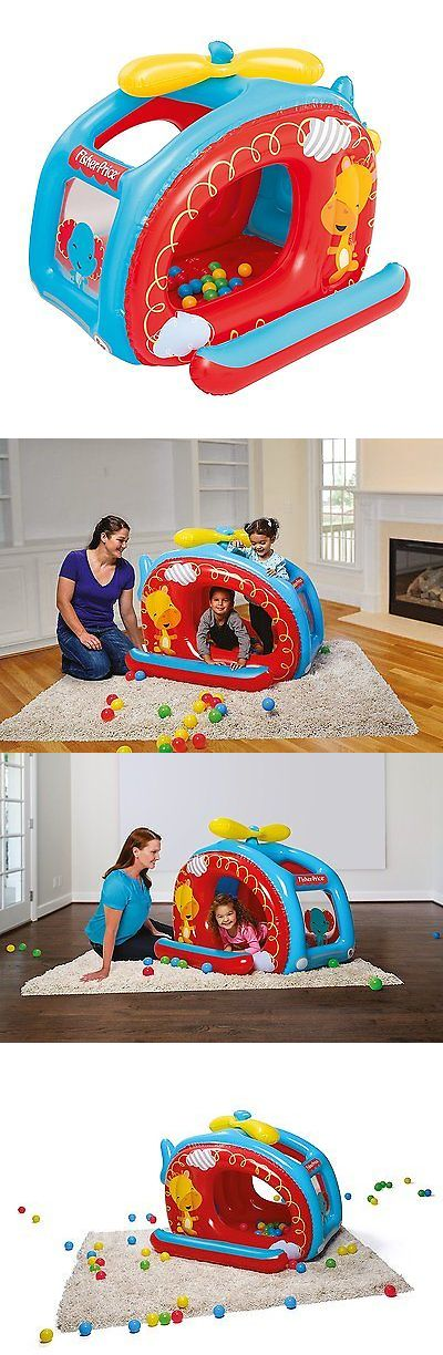 Other Outdoor Toys Structures 11742: Fisher Price Helicopter Inflatable Ball Pit Kids Indoor Outdoor Play Center New -> BUY IT NOW ONLY: $44.58 on eBay!