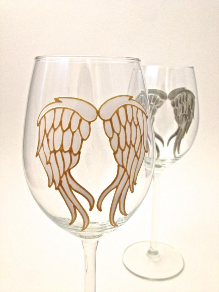 High quality, long stemmed, wine glass that holds approximately 14oz (41cl). From base to rim, it stands 24cm tall and the stem alone is 12cm. Each glass is hand painted with a pair of Angel Wings in grey, with a raised pearl coloured outline or white with a gold outline. Please select the colour way you require from the drop down box. Each glass comes individually boxed and the list price is for 1 glass only. Each and every piece is painted by hand, by Toasted Glass designer and artist…