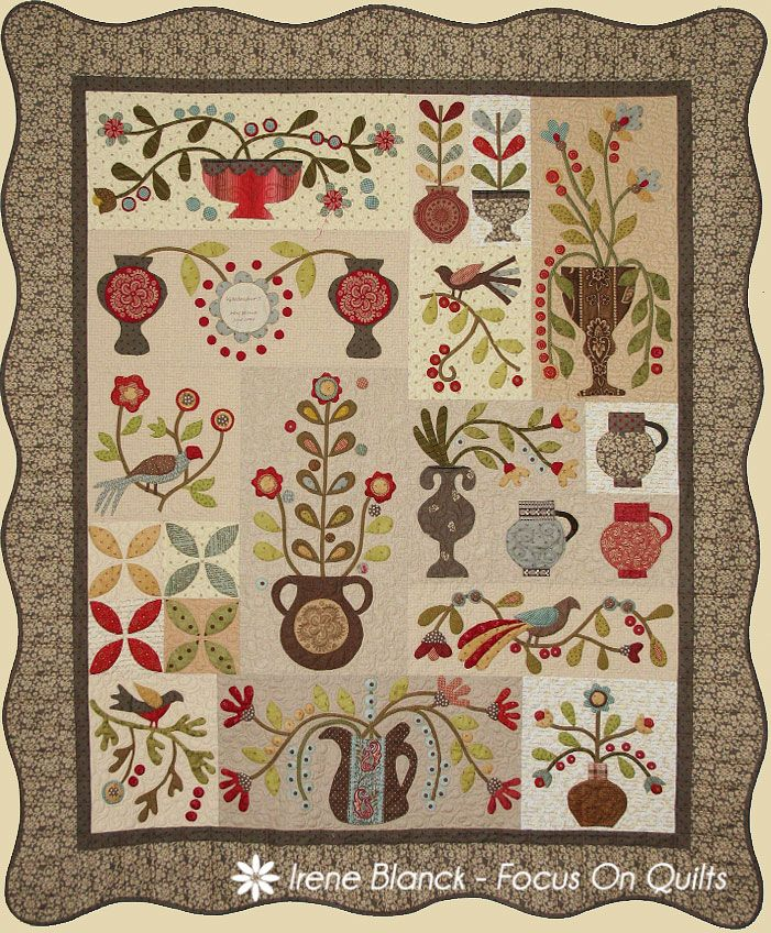 Gardenhurst, a quilt design by Irene Blanck/Focus on Quilts