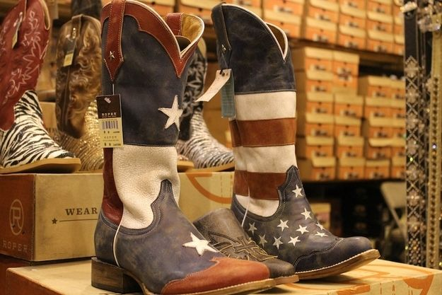 These sweet 'Merica/Texas boots. | 29 Treasures You Need To Buy At The Houston Rodeo
