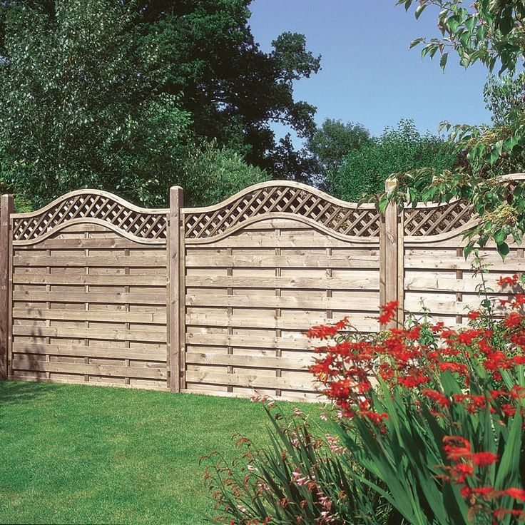 Garden Lighting On Lattice Fence