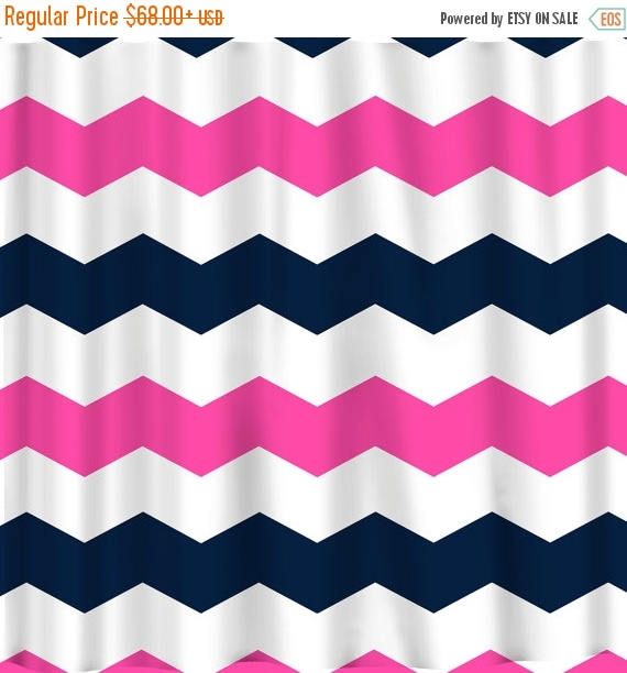 4th of July Sale Custom Chevron Shower Curtain Extra Wide 6