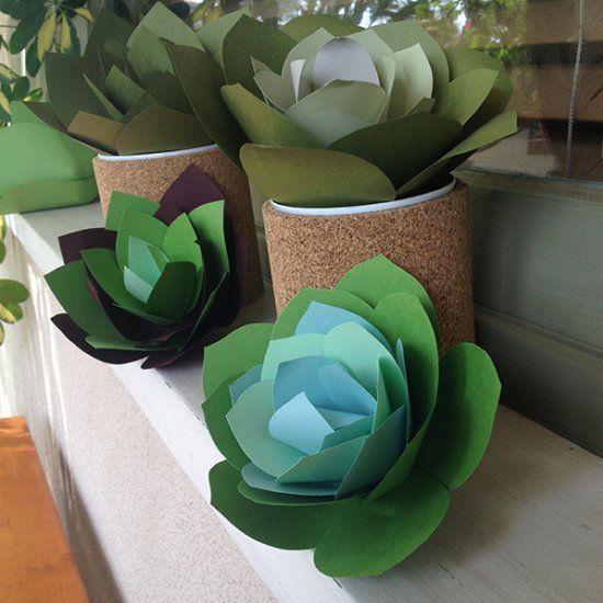 How to Make Paper Succulents