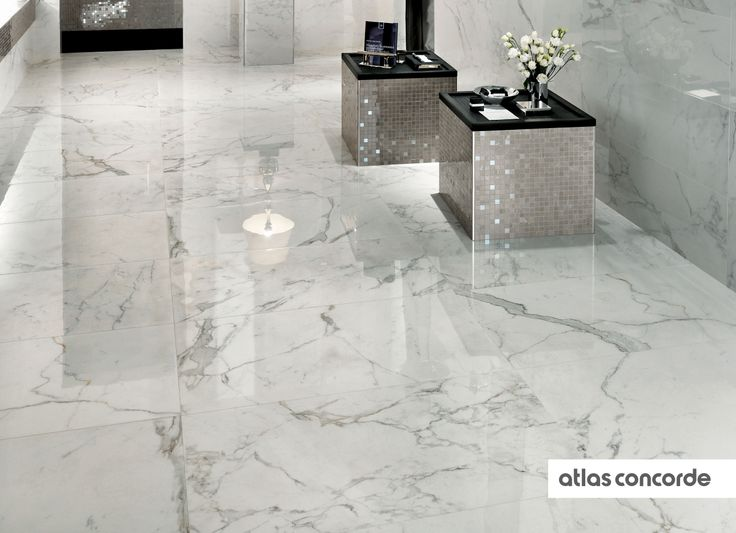 #MARVEL calacatta and silver | #Floor design | #AtlasConcorde | #Tiles | #Ceramic | #PorcelainTiles