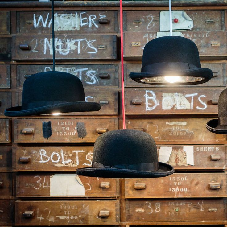 The Charles Bowler hat Light is a quirky yet stylish pendant. With a stainless steel insert.