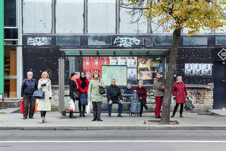 Bus stops on Behance