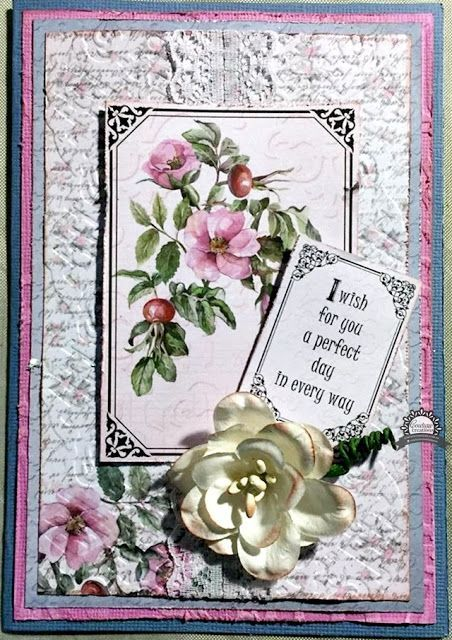 #couturecreationsaus #ultimatecrafts Hi everyone! Have you fallen in love with the gorgeous new range, Magnolia Lane, designed by Sue Smyth? I designed this card card to share with you today. The