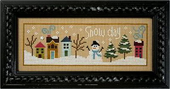 Lizzie Kate Snow Day F115 Snowman Counted Cross by DebiCreations