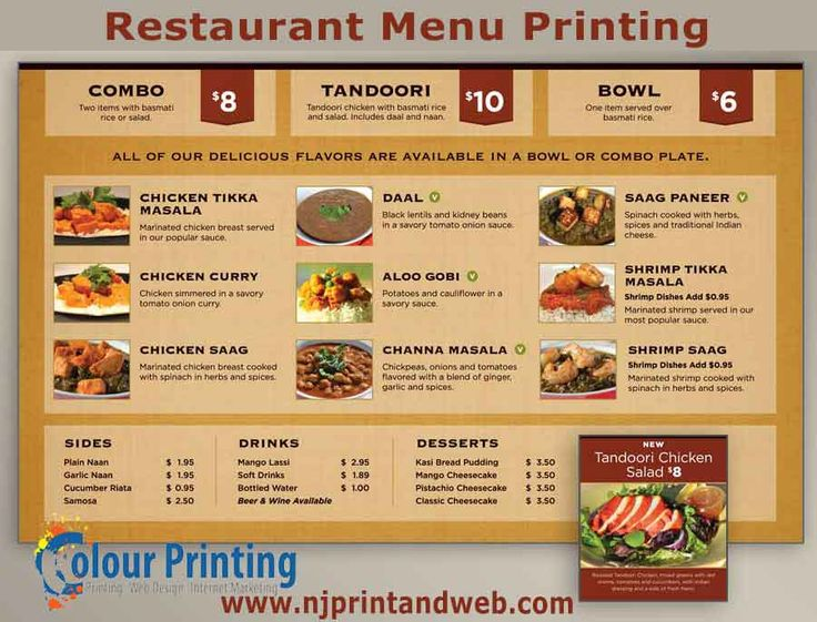 270 best Restaurant Menu Printing images on Pinterest Menu - restaurant menu