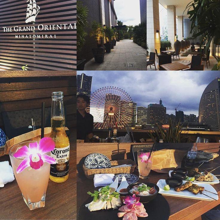 The rain never stopped us... @toshisada.suganuma  #Yokohama #Japan #yokohamabay #grandorientalminatomirai #minatomirai #oceansbar #grandoriental #skyline #dinner #yokohamasky #beautiful #gorgeous #横浜 #みなとみらい #夏 #梅雨
