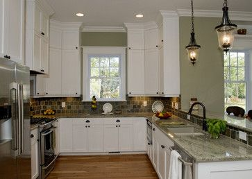 Hemingway S Cottage Eclectic Kitchen Raleigh Blue Sky Building Company Surf Green Granite