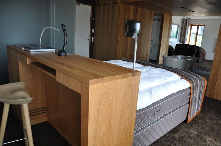 Hotel furniture to Henne Kirkeby Kro. That is a Inn in Denmark with 12 special rooms. #woodworking #project #hotel http://www.kjeldtoft.com/