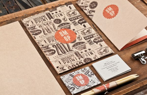 Brisbane Museum of Print by Cameron Humphries, via Behance