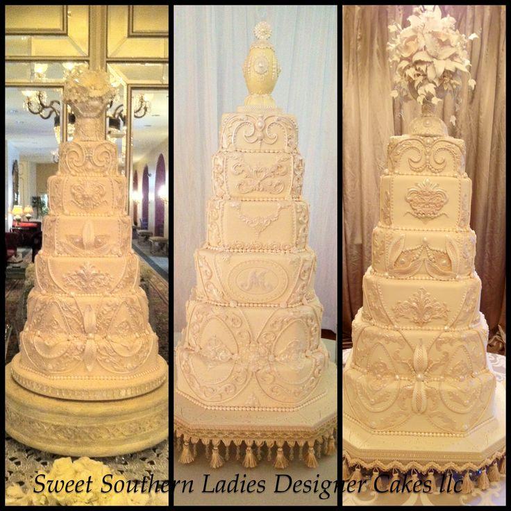 5 Foot Tall Ornate Wedding Cakes