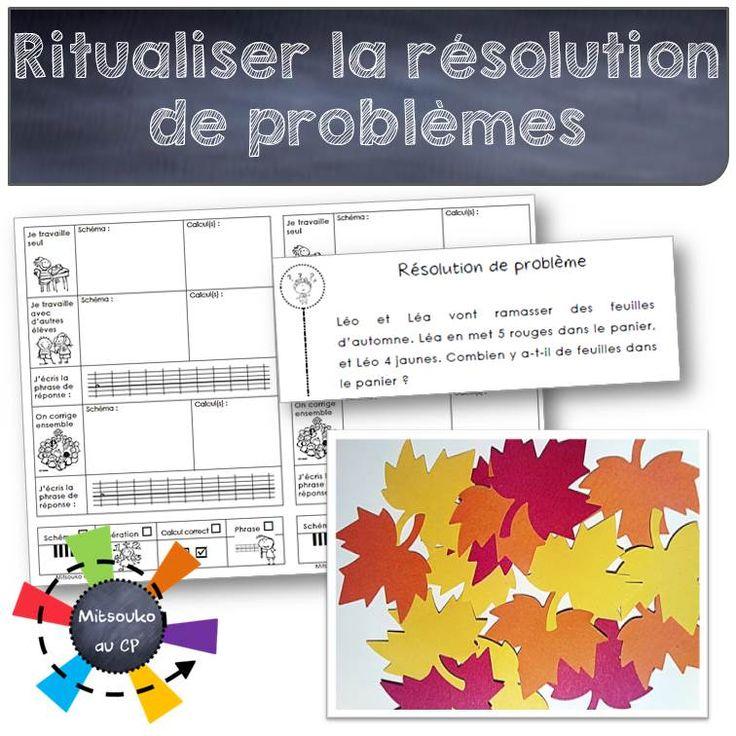 Ritualiser la résolution de problèmes au CP
