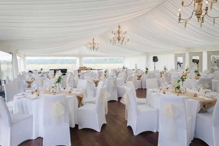 Wedding setup in the Estate Marquee, Sileni Estates, Hastings, NZ.