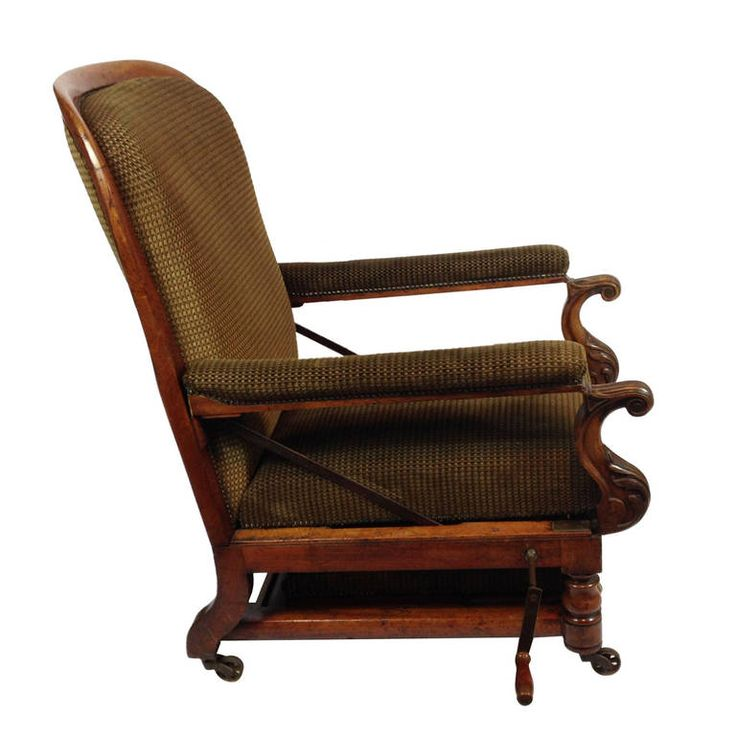 A Rare Victorian Reclining Chair / Day Bed by J Alderman of London | From a unique collection of antique and modern armchairs at https://www.1stdibs.com/furniture/seating/armchairs/