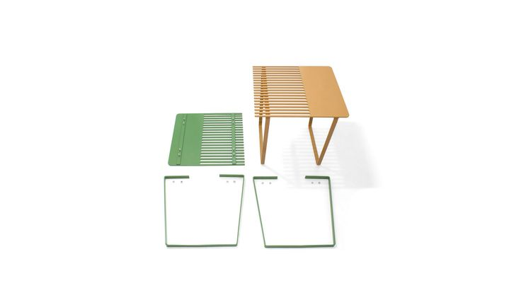 Combio may stand individually as side tables or they can be combined - emphasizing on their common origin - and be used as a coffee table.