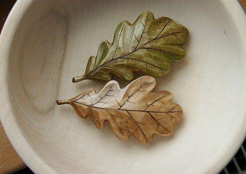 """Sponka - dubový list, \""""opršelý\"""" (menší spona-7cm)"""