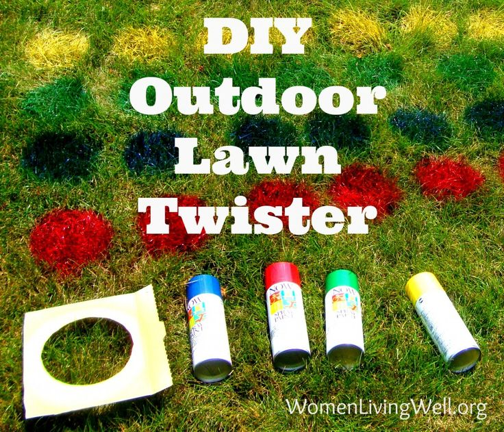 #DIY #Games Outdoor Lawn Twister  http://womenlivingwell.org/2013/06/diy-outdoor-lawn-twister/