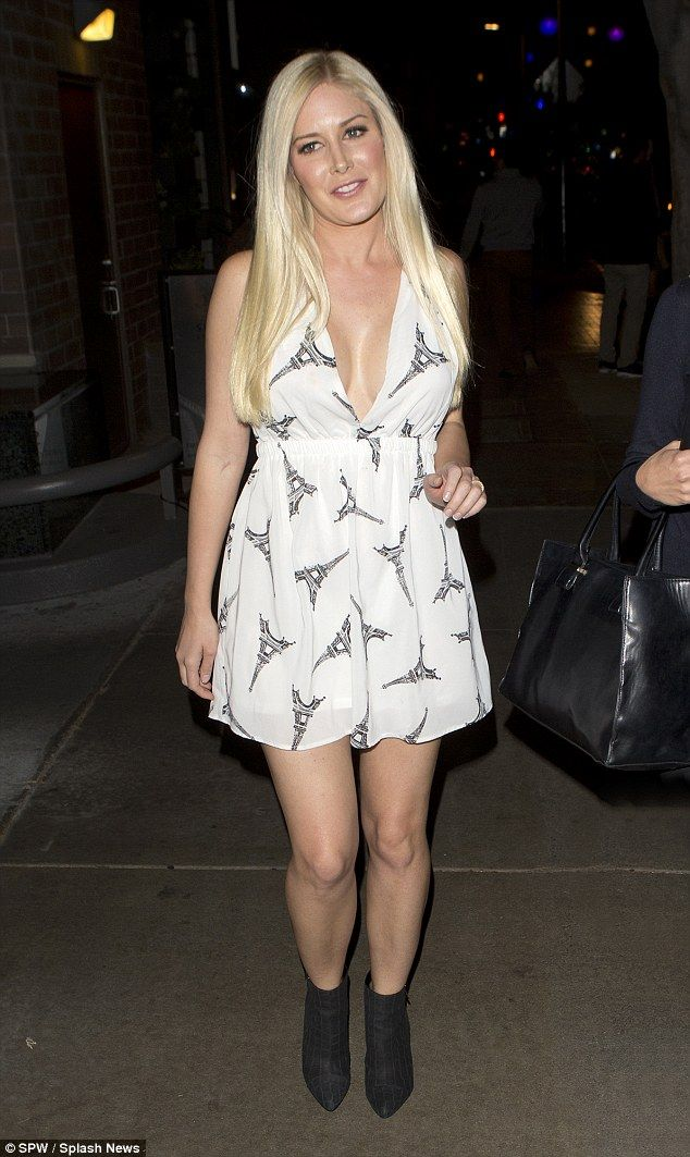 Je suis Paris: Heidi Montag showed she was thinking of the people of Paris on Tuesday night when she wore a cute Eiffel Tower themed dress