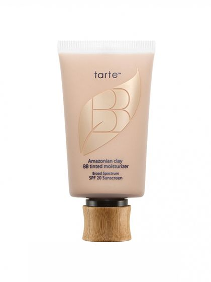 MAKEUP Tarte Amazonian Clay BB Tinted Moisturizer. Call it a BB cream. Call it a tinted moisturizer. We'll just go ahead and call it a busy-morning miracle worker. Just a few drops of the oil-free formula leave skin hydrated and dewy while also camouflaging dark marks and acne spots (and it even has all-mineral SPF 20).