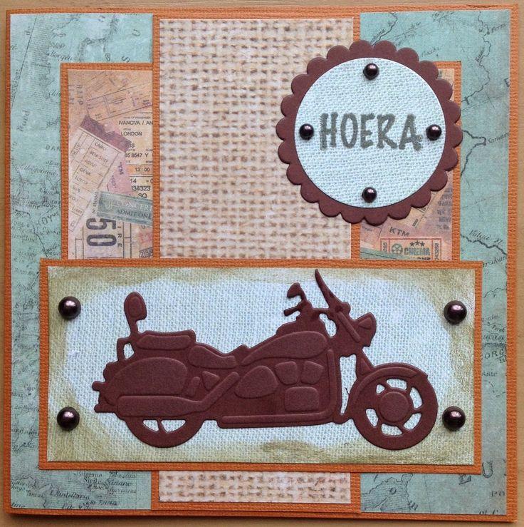 Kaartenblog van Tineke: Kaart met Motor