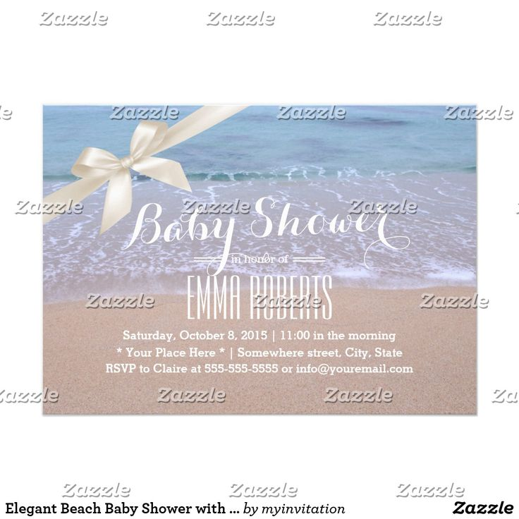 Elegant Beach Baby Shower with Ivory Ribbon