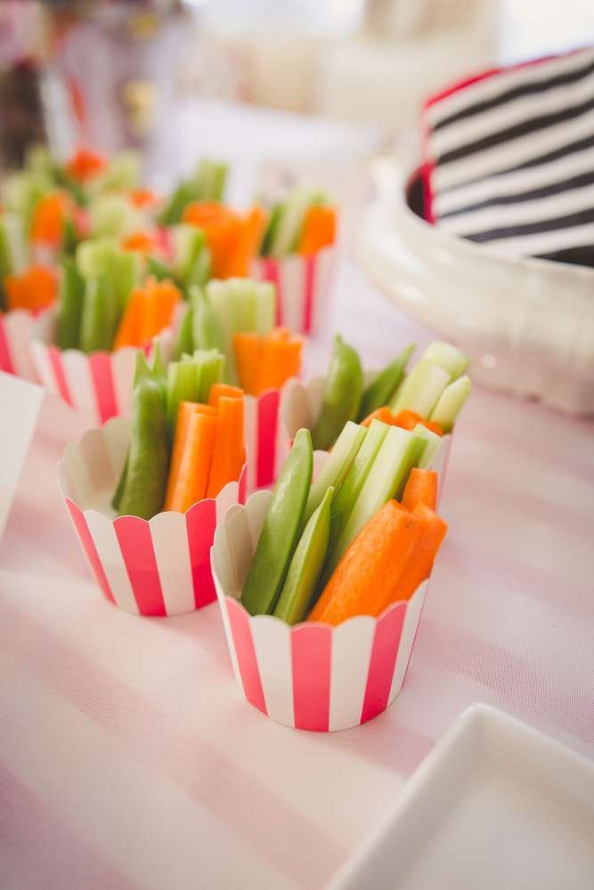 Crudites at a Mary Poppins birthday party! See more party ideas at CatchMyParty.com!