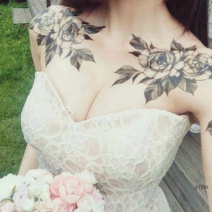 #rose #roses #rosetattoo #rosetattoos #clavicletattoo #clavicletattoos #floraltattoo #flowertattoos #pretty #prettytattoo #prettytattoos… | Tattoos