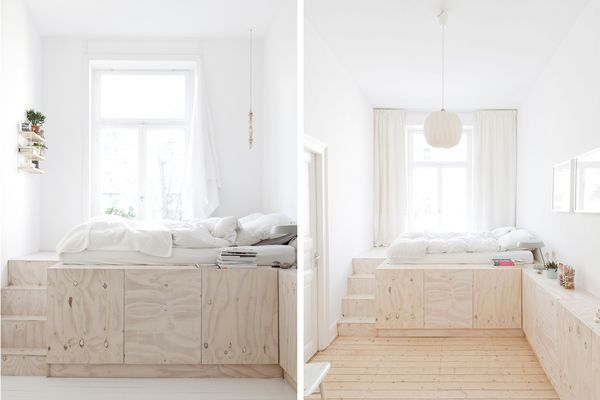 Plywood-loft-styled-bed
