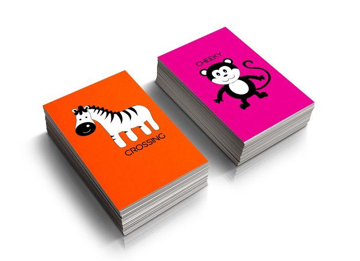 Wolfie And Teddie Children's play cards mockup