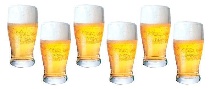 Design ideal para copo de cerveja  em vidro que possibilita melhor aproveitamento da bebida.    Os copos desenhados para servir cerveja são aqueles com a boca um pouco mais larga do que a base. Essa estrutura ajuda a formar a quantidade correta de espuma, que serve para manter a cerveja gelada por mais tempo. Esse copo é muito tradicional e acomoda bem as cervejas inglesas e irlandesas que possuem pouca formação de espuma.