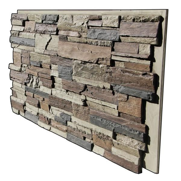 Tritan Bp Earth Valley Faux Stone 48 3 4 In X 21 3 4 In Nst Class A Fire Rated Urethane Interlocking Stack Stone Panel Ev 4824 Nst The Home Depot Stacked Stone Panels Exterior Stone Faux