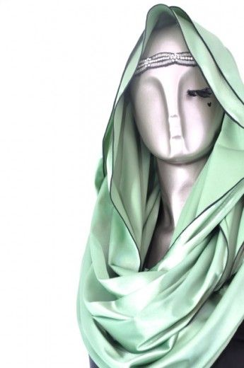 Satin Glitter Loop-Pistachio - Loops - Online Collection   Online Hijab Store in Singapore  Shawl   Hoodies   Hijabfashion 