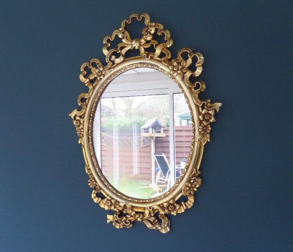 Gold Wall Mirror Ornate Baroque Style Gold by BlackSquirrelHome