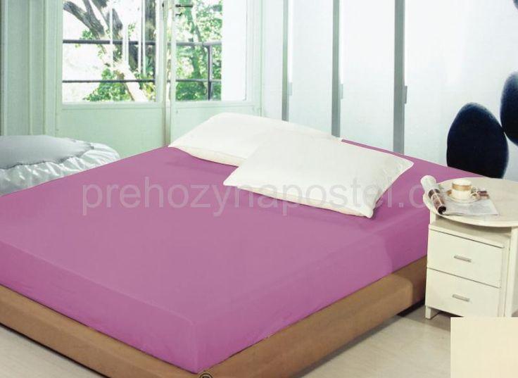 Plachta na postel v levandulové barvě s napínací gumičkou