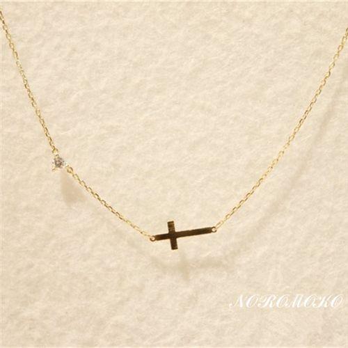 クロス ネックレス 人気 K14ゴールド 十字架 ペンダント チェーン http://www.noromoko.com/re038