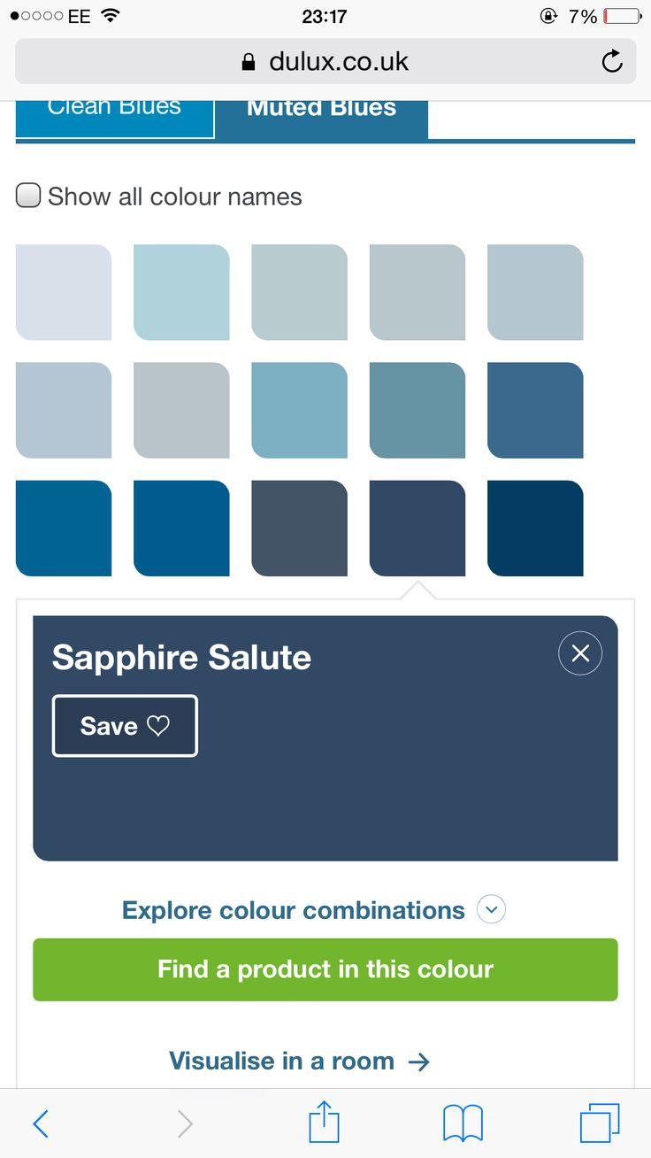 Sapphire blue   navy blue Dulux paint8 best Paint colour inspo images on Pinterest   Bedroom colours  . Dulux Exterior Paint Selection. Home Design Ideas