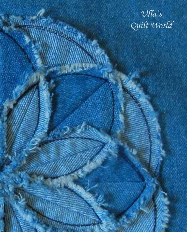 I tried also to make this flower from a denim.               I found a tutorial for this flower from a Sandra Decoraciones.  Thank...