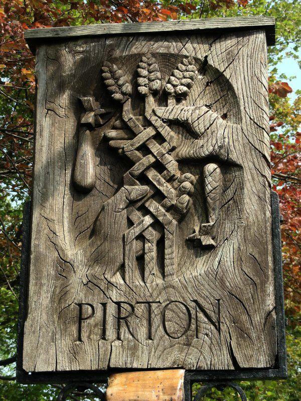 Pirton village sign, Hertfordshire, England