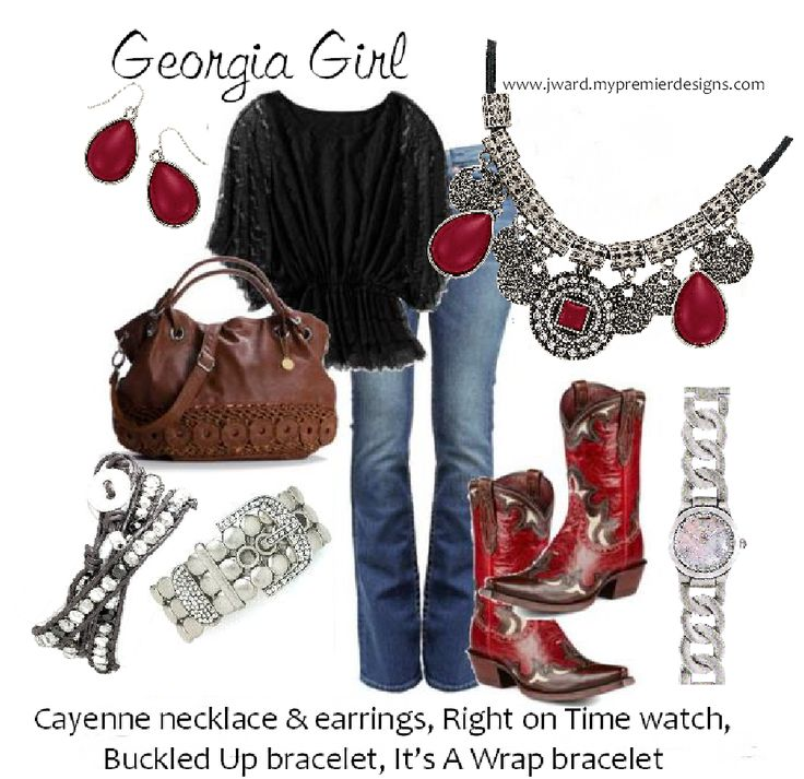 Premier Designs 2014 - Cayenne neckalce & earrings, It's A Wrap bracelet, Buckled Up, Right on Time watch